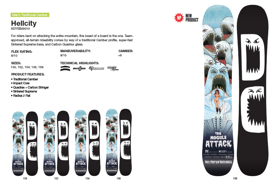 DC SHOES SNOWBOARD HELLCITY - LM BOARD STORE