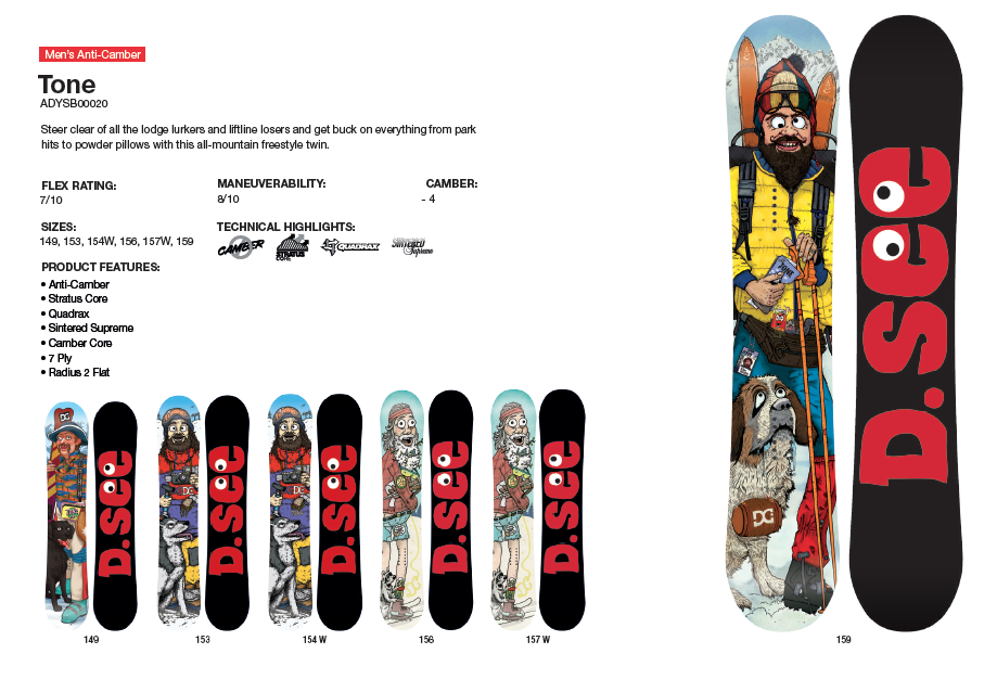 DC SHOES SNOWBOARD TONE - LM BOARD STORE