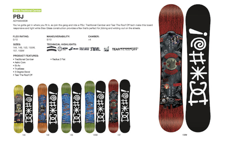 DC SHOES SNOWBOARD PBJ - LM BOARD STORE
