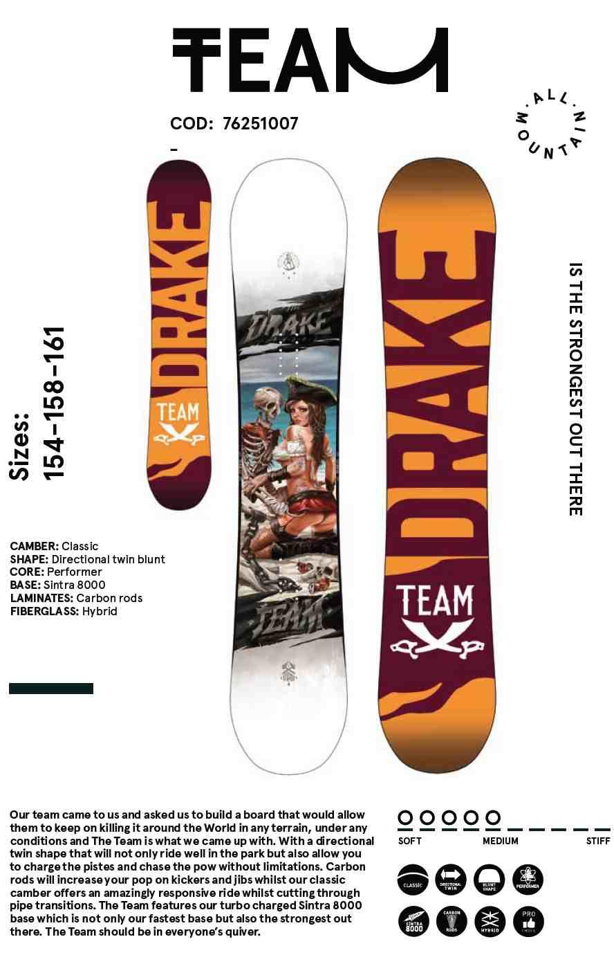 DRAKE SNOWBOARD 2016 TEAM - LM BOARD STORE