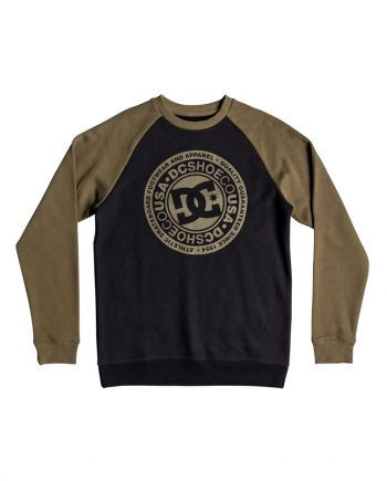 DC SHOES SWEAT CIRCLE STAR CREW XGGK