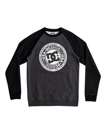 DC SHOES SWEAT CIRCLE STAR CREW XKKK