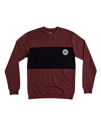 DC SHOES SWEAT REBEL CREW BLOCK