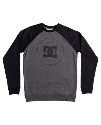 DC SHOES SWEAT REBUILT 2 CREW RAGLAN - LM BOARD STORE